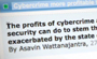 More money in cybercrime than illegal drugs?